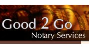 Good 2 Go Mobile Notary Services