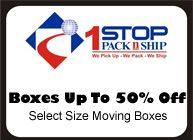 Boxes upto 50% Off Select Size Moving Boxes