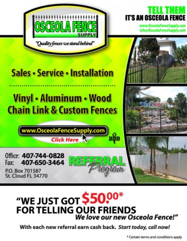 Orlando fence referral program