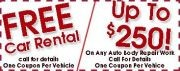 Save up to $250 off auto body repairs