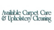 Available Carpet Care & Upholstery Cleaning